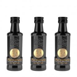 "Pack 24 miniaturas ginebra Puerto de Indias ""Pure Black"""