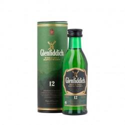 Miniaturas de whisky Glenfiddich con estuche