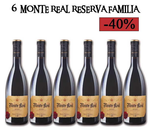 6 botellas Monte Real Reserva Familia con descuento