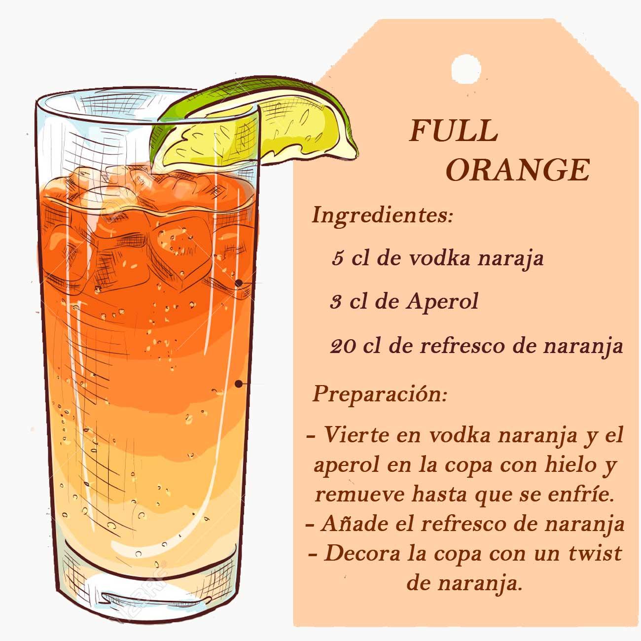 coctel de naranja y aperol