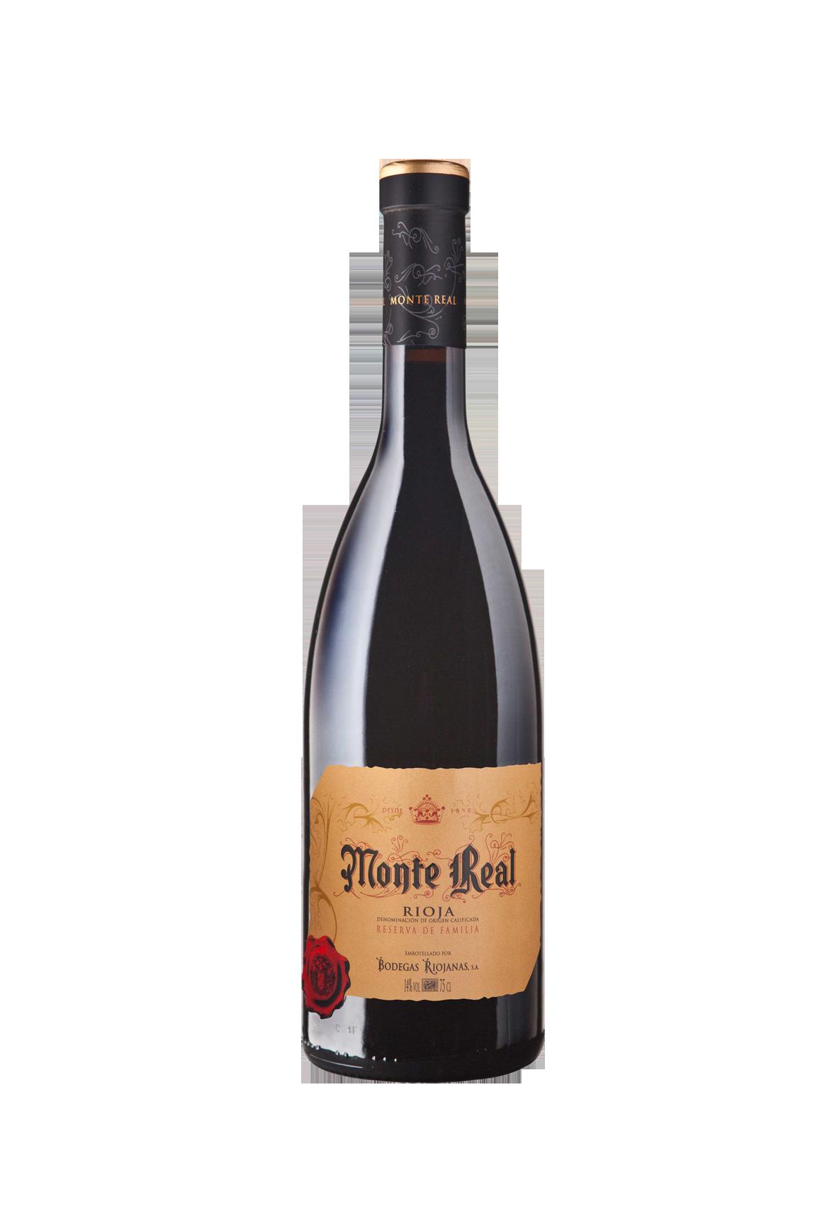 Botella de vino Monte Real Reserva de la Familia