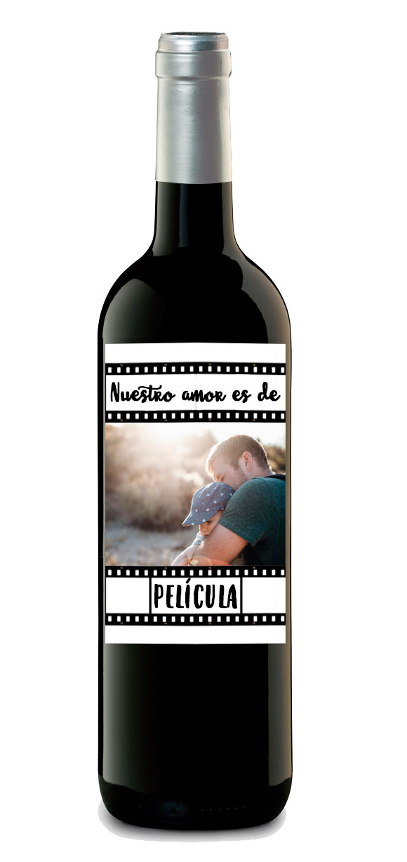 botella vino personalizado etiqueta