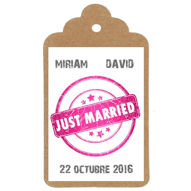 Etiquetas personalizadas para regalar boda