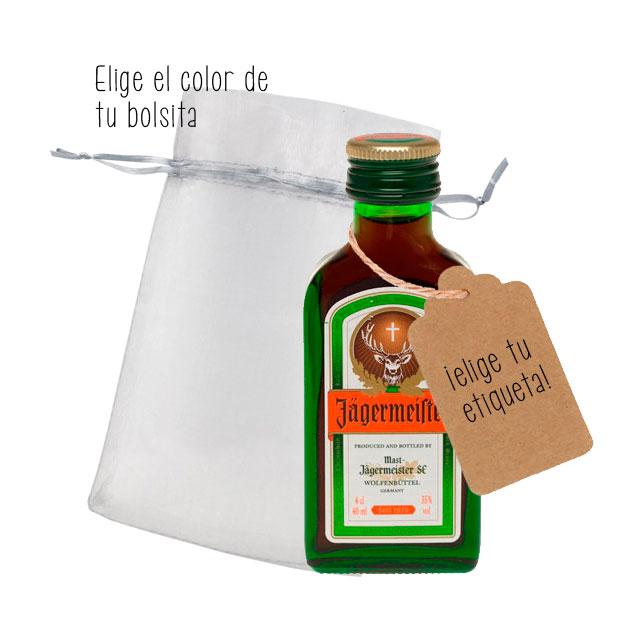 Jager botella miniatura con etiqueta para eventos