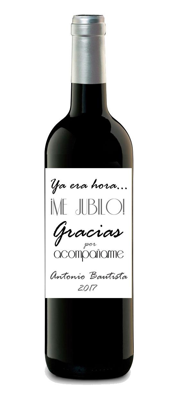 botella de vino jubilacion personalizada