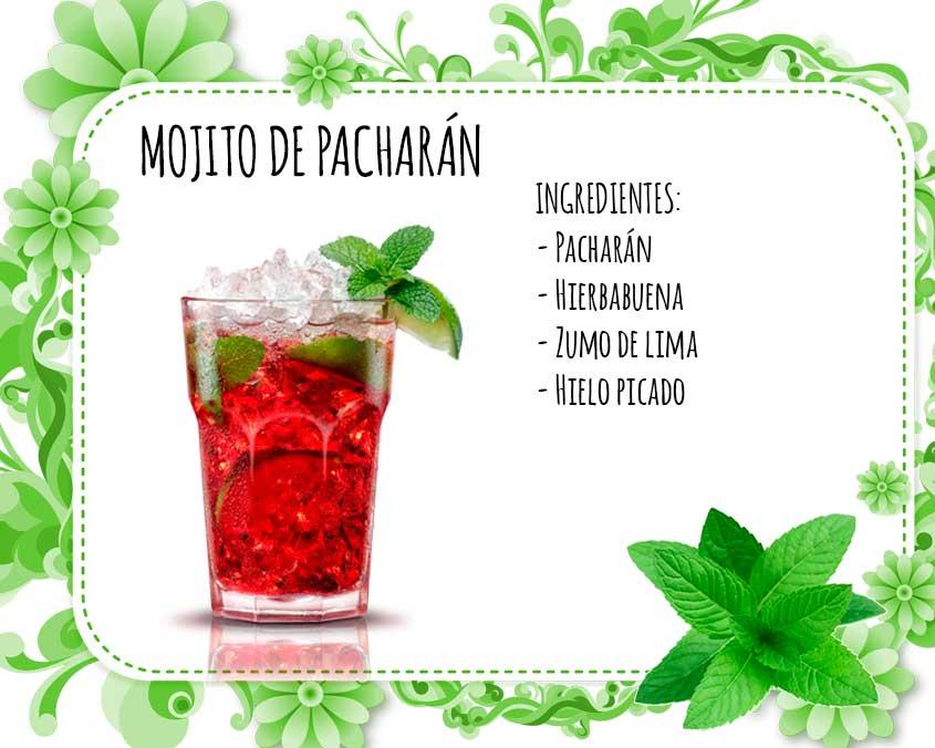 Mojito de pacharan coctel