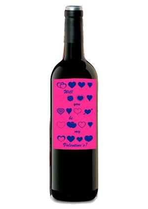 botella romantica san valentin