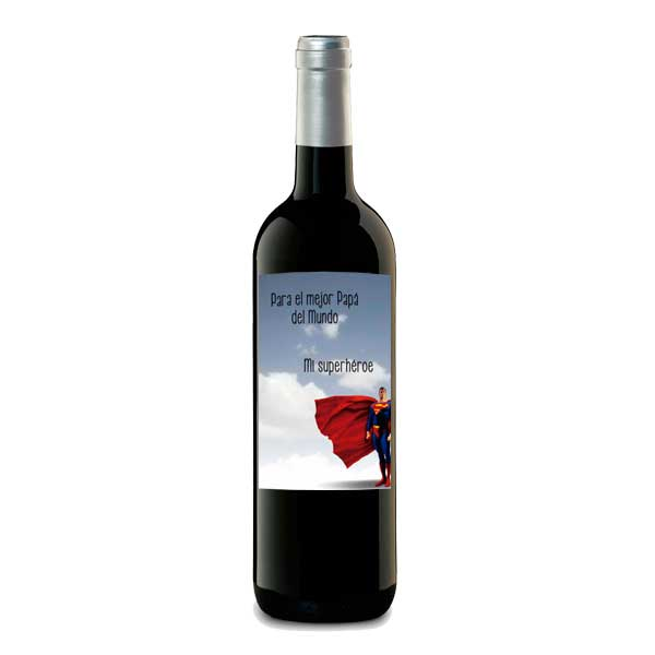 "botellas vino personalizado ""superman"""