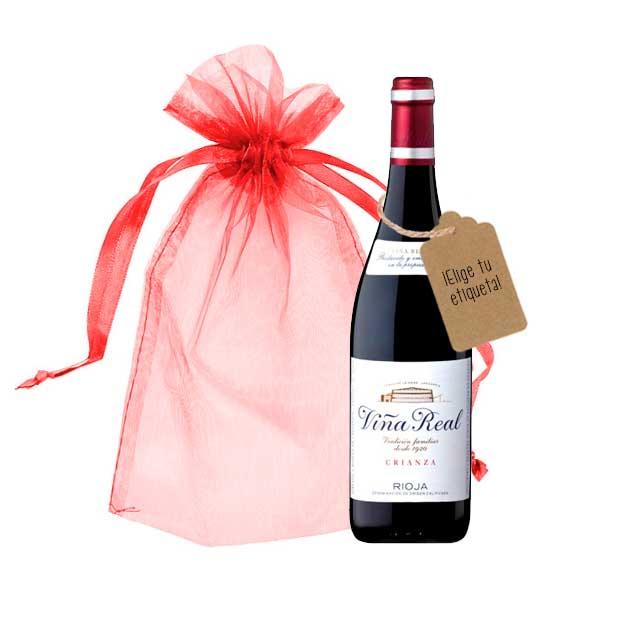botella vina real vino personalizada con etiqueta