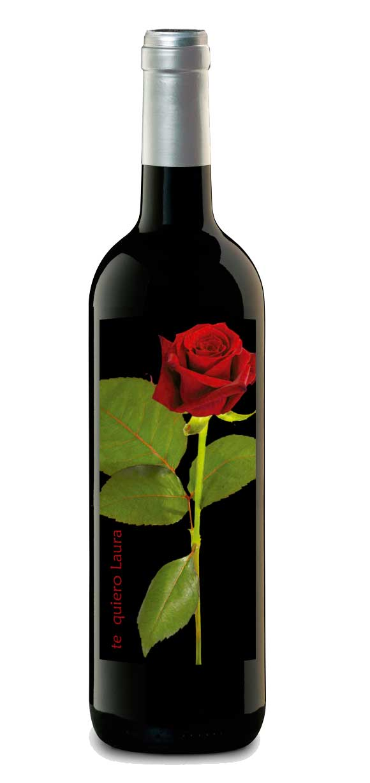 vino personalizado botella etiqueta