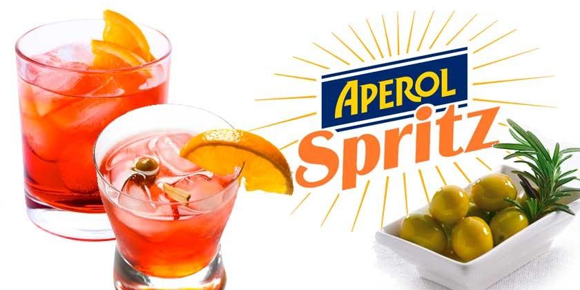 Receta aperitivo italiano Spritz (con Aperol)