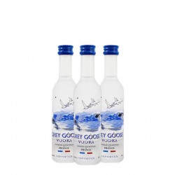 Pack de 12 miniaturas de vodka Grey Goose