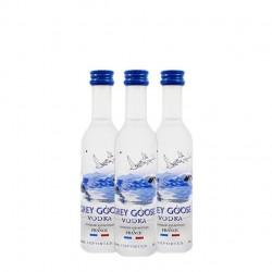 Pack de 12 miniaturas de vodka Grey Goose