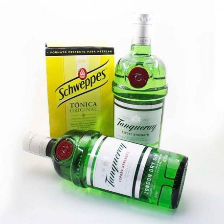 Pack tanqueray y tonica Schweppes