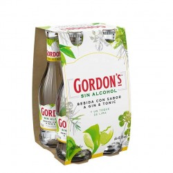 Gordon's sin alcohol sabor gin tonic