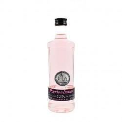 Miniatura ginebra rosa Puerto de Indias 10cl