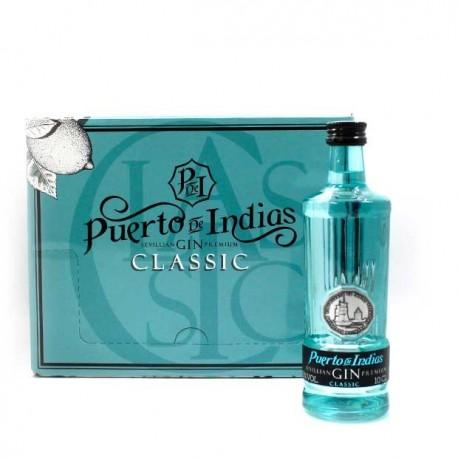 Pack 12 miniaturas Ginebra Puerto de Indias Classic 10cl