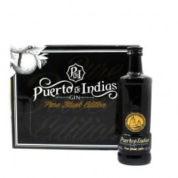 Pack 12 unidades Ginebra Puerto de Indias Pure Black 10cl