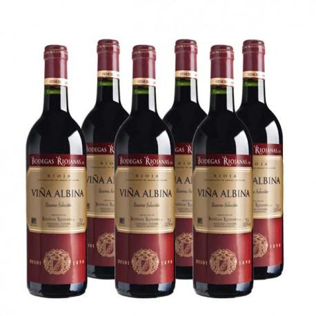 Caja 6 botellas de vino Viña Albina Reserva Selección 2012