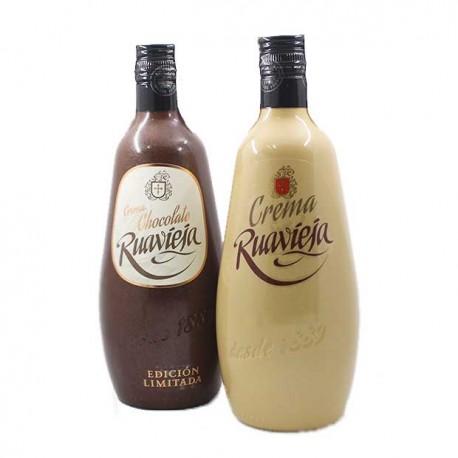 pack crema chocolate Ruavieja y licor de crema