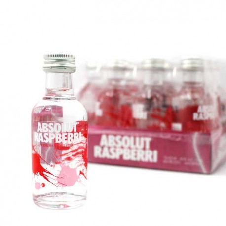 pack vodka absolut rapsberri miniatura