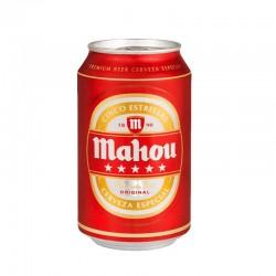 Cerveza Mahou 5 Estrellas (pack 24 latas)