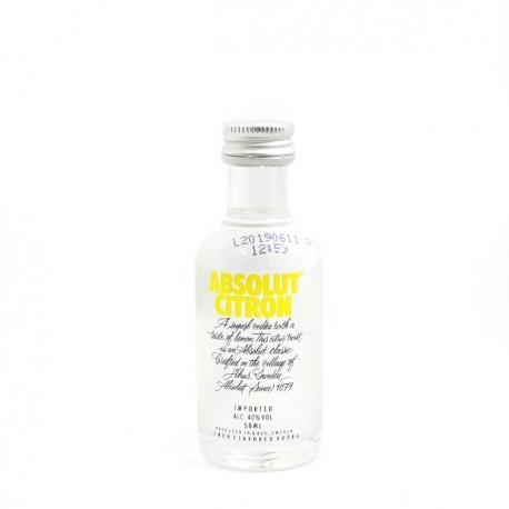 Miniatura Vodka Absolut Citron