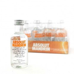 Pack 12 miniaturas Vodka Absolut Mandrin