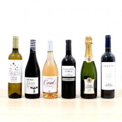 """Pack 6 botellas de vino """"Brindis especial"""""""