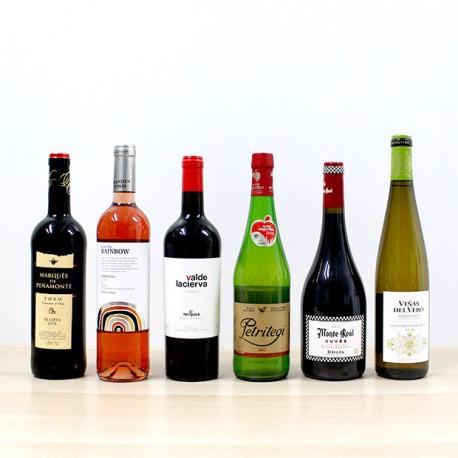 """Pack 6 botellas de vino """"ENERO"""""""