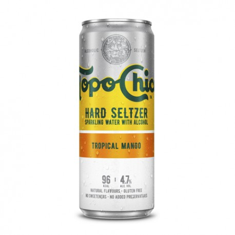 Topo Chico sabor mango en lata