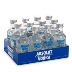 Pack 12 miniaturas Vodka Absolut