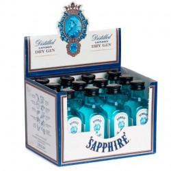 Pack de 12 miniaturas de ginebra Bombay Sapphire