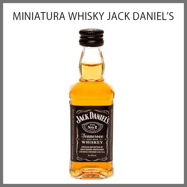Mini Botella colección whisky Jack Daniels