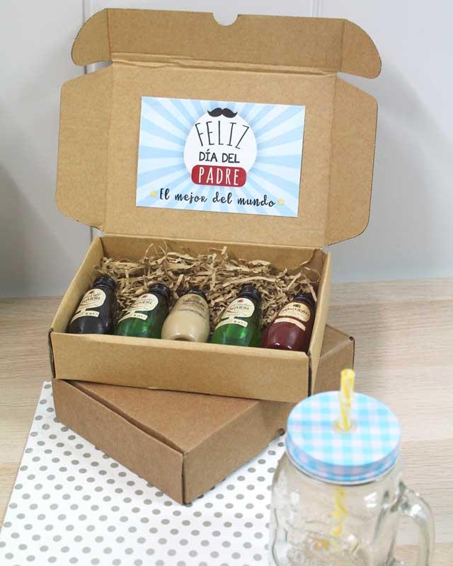 Cajita de licores para regalar en el Día del Padre