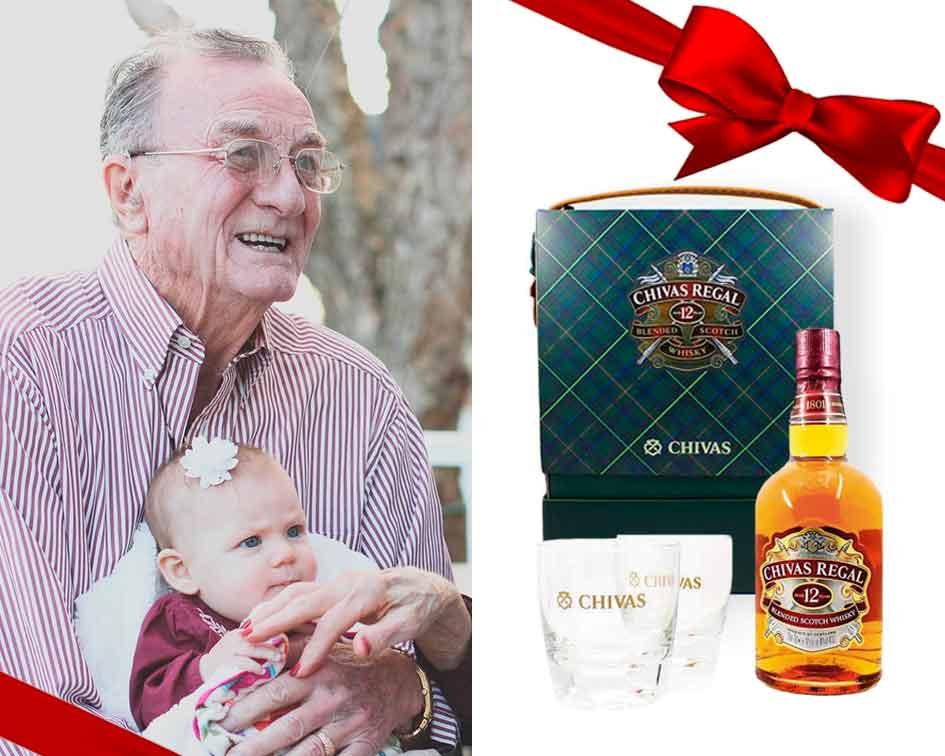 regala a tu abuelo el estuche de whisky chivas