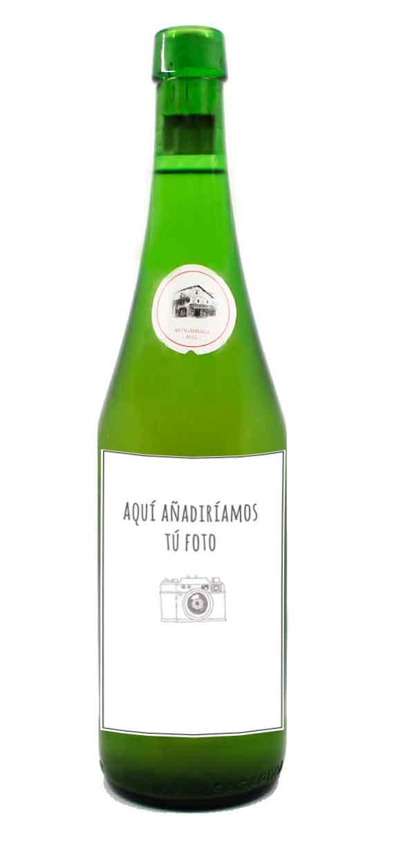 Botella de sidra Petritegi personalizada - Etiqueta Voltereta