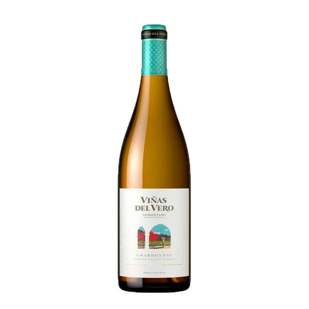 Viñas del vero chardonnay vino blanco
