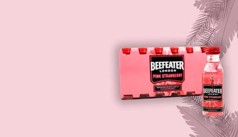 Nueva botellita de ginebra rosa Beefeater Strawberry