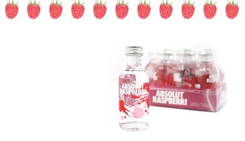 Nueva botellita de Vodka Absolut Raspberri