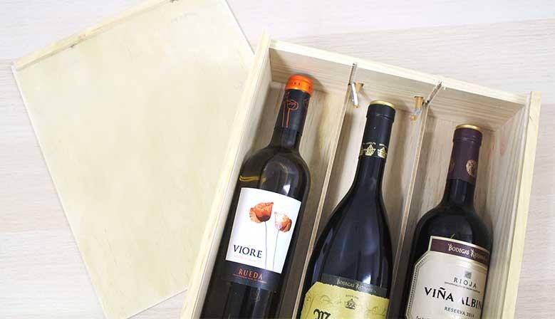 Cajas vinos Bodegas Riojanas