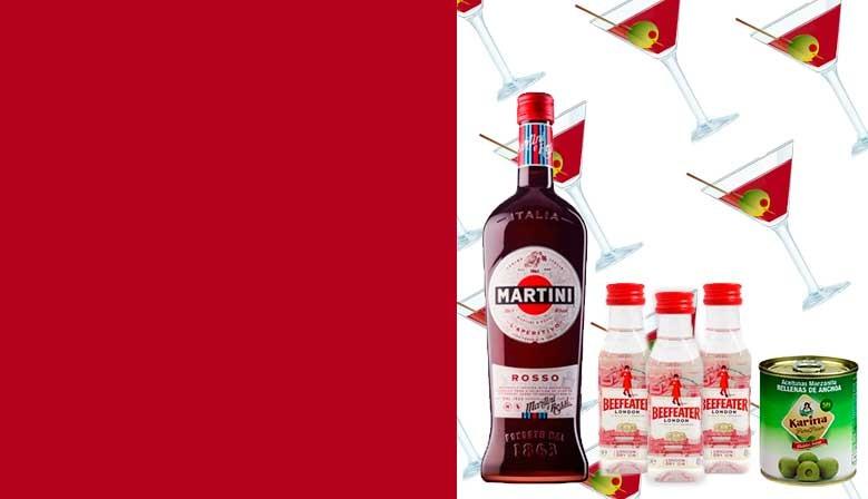 Nuevo PACK APERITIVO: martini y ginebra Beefeater